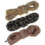 AONER (130CM-140CM) 3 paires Lacets Durable à Haute Résistance Multi-colors Pour Chaussures de Randonée Rayures Sports