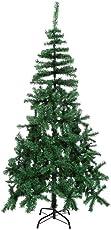 Qenci In/Outdoor Verwendbare 1.2M 1.5M 1.8M Höhe Kunstliche Weihnachtsbaum Tannenbaum Christbaum Tanne aus PVC mit Metallständer in Naturgrün