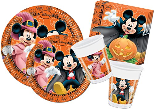 Ciao y4305 - Kit Party in Tisch Mickey Maus Halloween, Orange/Schwarz