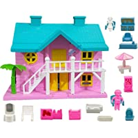 FunBlast Doll House Set for Girls Kids – Pretend Play Dolls & Play Sets with Openable Door and Furniture for Girls (Pack…