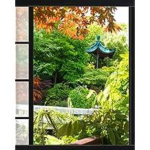 Amazon.fr : trompe l oeil jardin
