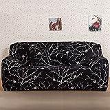 Sofaüberwurf Sofabezug stretch Abziehbild Sofabezug Muster Sofa Slipcover elastische Sofahusse (3 Sitzer für Sofalänge 185-230cm, Stil 6)