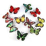 Gosear 6 Piezas LED Colores Forma de la Mariposa Lámpara de Mesilla de Noche Luces