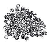 f-eshion DIY envejecido plata joyas estilo Pandora cuentas hecho a mano pulsera de perlas de material