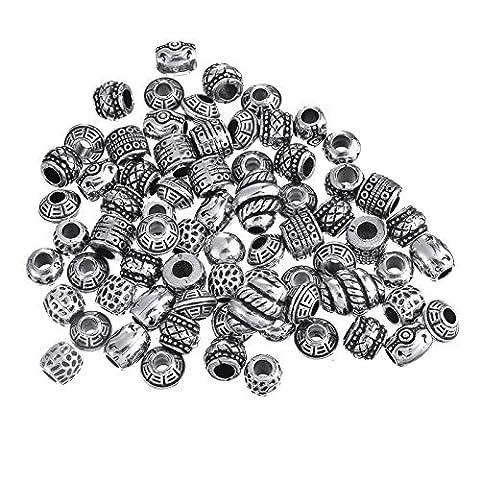Iknowy DIY antique Bijoux en argent style Pandora Perles fait à la main Bracelet de perles Matériau
