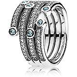 PANDORA - Océano anillo de plata chispeante 925/1000 PANDORA 191002CZF - 56