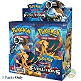 #7: Day All New Pokeemon Cards are here Pokemon Trading Card Game- 5 Packs (Random) (Evolution)