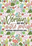 Demain est un autre jour : agenda semainier 2020: Du 1er janvier 2020 au 31 décembre 2020 : aperçu hebdomadaire et mensuel, journal, planificateur & organiseur : motif floral tropical 210-3