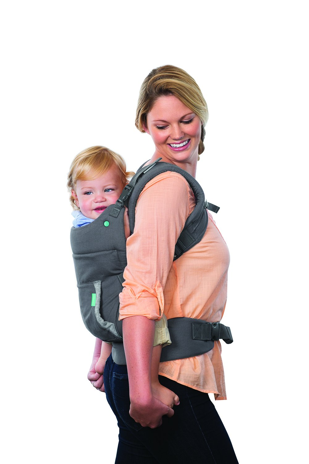 Infantino Cuddle Up Ergonomic Hoodie Carrier, Grey Infantino Fully safety tested Carries children from 12-40lbs (5.4 - 18.1 kgs) 7