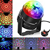 Disco Ball Light SOLMORE Mini Disco Lights RGB 5W Party Lights Stage Lighting Color Changing Effect Lights Sound Actived Crystal Magic Rotating Ball Lights for Children Home Party DJ Karaoke Wedding Show Club Pub Christmas Festival Birthday Indoor Decoration
