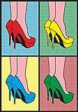 Pop Art XXL Poster 70x100 cm Hochglanz Pretty Woman High Heels Pop Art Gallery