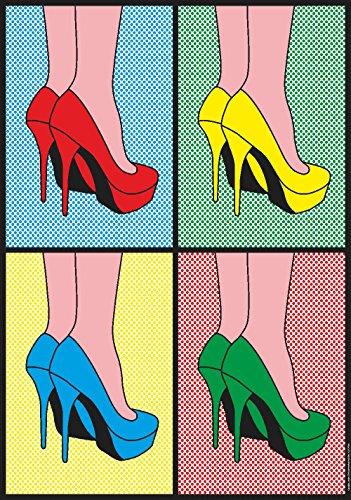Pop Art Gallery Pop Art XXL Poster 70x100 cm Hochglanz Pretty Woman High Heels