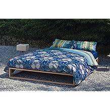 Bassetti Granfoulard.- Conjunto de funda nordica Loto color V3 azul para cama de 150 (240x220 cm)