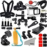 Kupton Accesorios para GoPro Hero 6/5, videocámara de acción, carcasa impermeable, correa para bici o coche, cip de soporte, para GoPro Hero 6 yHero 5