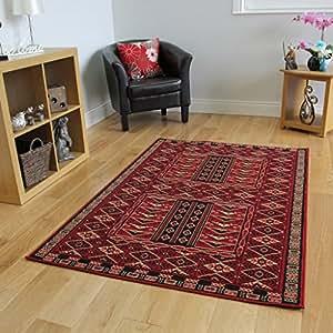 tapis salon rouge profond vintage 4 tailles disponibles. Black Bedroom Furniture Sets. Home Design Ideas