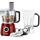 Russell Hobbs Robot Cuisine Multifonction, Hâche, Mixe, Tranche, Râpe, Lames Pétrin, Batteur, Compatible Lave-Vaisselle, 7 Ac