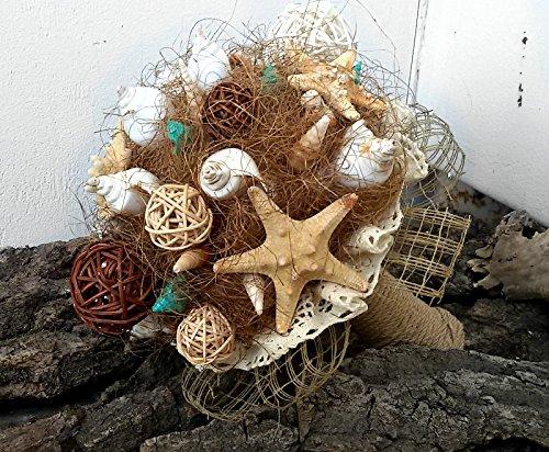 Strand Brautstrauß, Strandhoch Seashells Brautstrauß ,