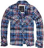 BRANDIT Check Shirt Blue-Red XL