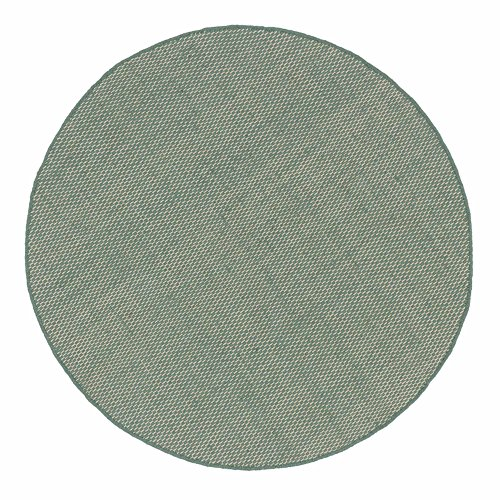 """URBANARA Teppich """"Kilden"""" - 100% reine Schurwoll-Baumwoll-Mischung, Minzgrün/Eierschale, handgewebt - 90 cm Durchmesser"""