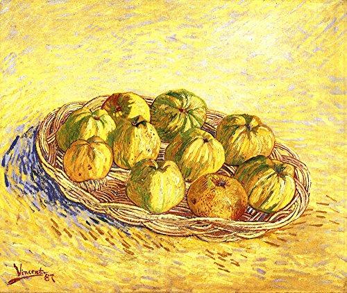 Das Museum Outlet-Stillleben mit Apple Korb [2] by Van Gogh-A3Poster Van Apple