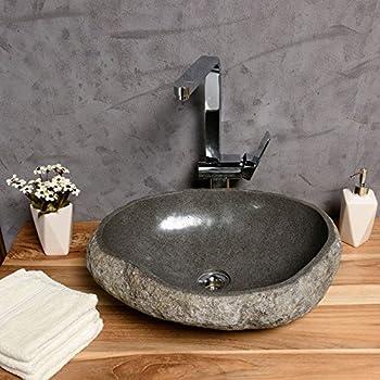 naturstein waschbecken von wohnfreuden steinwaschbecken 40 cm. Black Bedroom Furniture Sets. Home Design Ideas