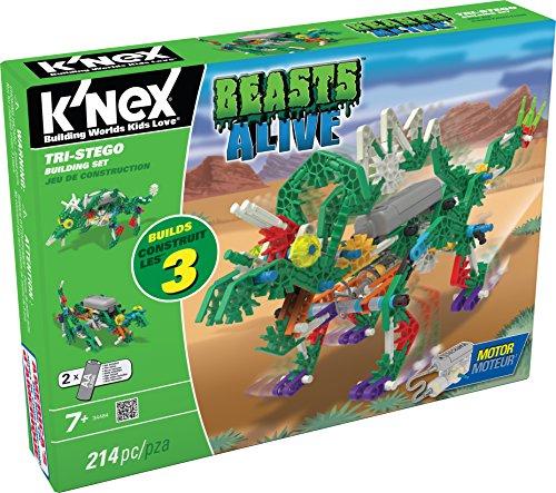 K'NEX 33481 – Beasts Alive – Tri-Stego Building Set – 214 Pieces – 7+ – Bau- und Konstruktionsspielzeug