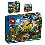 Lego CITY 3er Set 60159 60158 30355 Mission mit dem Dschungel-Halbkettenfahrzeug + Dschungel-QuadDschungel-Frachthubschrauber