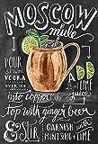 Schatzmix Cocktails Rezepte Recipe Moscow Mule Vodka Ginger Beer Alkohol schwarz Hintergrund Metal Sign deko Sign Garten Blech