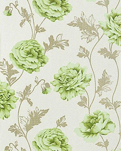 Blumen Tapete Landhaustapete EDEM 086-25 Romantik Tapete Floral Vinyltapete Rosen Blüten Crashoptik...