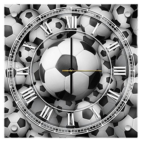 Delester Design cg20111g7Fútbol reloj de pared de cristal (déco-vitre) vidrio, multicolor 40x...