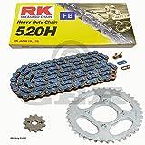 Ensemble chaine Kymco KXR 25004–07, chaîne RK FB 520H 94, ouvert, bleu, 14/38