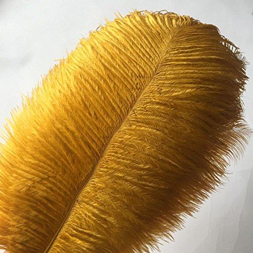 -Federn 12-14inch (30-35cm) für Haupthochzeits-Dekoration (golden) (Hut Herzstück)