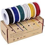 TUOFENG 22 awg Solid Wire-Solid Wire Kit-6 Verschillende Gekleurde 9 Meter spoelen 22 Gauge Jumper Wire -Hook up Wire Kit