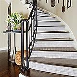 PLYY Einfache Treppe Aufkleber Wohnzimmer Weißen Backstein-Muster Kann Selbstklebende Wandaufkleber Dekoration entfernen