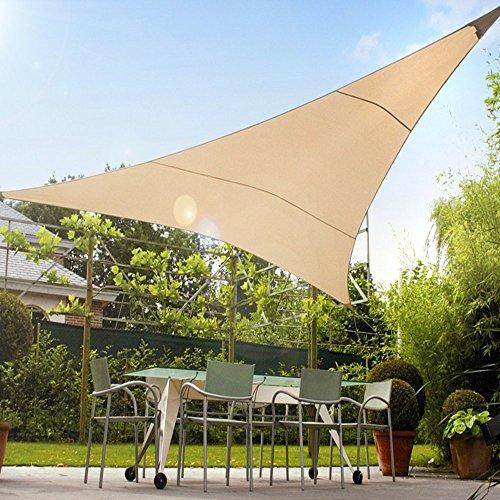 GreeenBlue - Toldo para jardín Vela de sombra triangulo UV 3,6 x 3,6 x 3,6 metros Impermeable