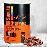 Schecker DOGTRAINERS Rind PUR 1 x 160 g gefriervakuum-getrocknete Micro-Trainingssnacks im Aroma-Safe