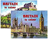 Britain To Colour Adults Paint & Colouring Books Famous Landmarks & Countryside 740 (Set of 2)