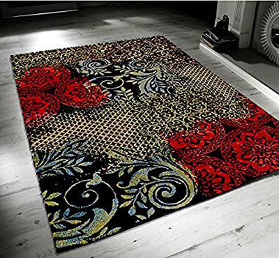 Andora Harmony Black Multi produced by Modern Style Rugs - quick delivery from UK.