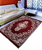 #2: Ab Home Decor Velvet Touch Chenille big size carpet for living room Hall Bedroom Floor Drawing Room Study Room 6 feet (width) x 9 feet (length),Maroon
