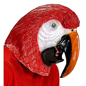WIDMANN wdm96636?Máscara cabeza completa loro, multicolor, One size