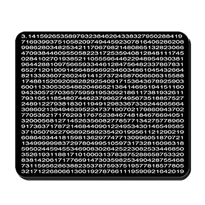 CafePress - 1,000 Digits Of Pi - Non-slip Rubber Mousepad, Gaming Mouse Pad from CafePress