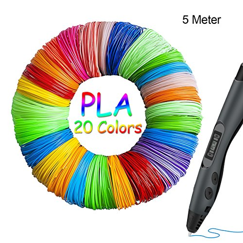 1.75mm PLA Filamento 3D 20 colores Fochea Materiales de Impresión 3D