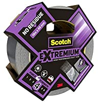 Scotch Extremium Removable Duct Tape - ideal as silver gaffer tape, waterproof, 18 m x 48 mm