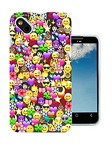 c1059 - Cool Fun Funny Emoji Wallpaper Crown Princess Poop Devil Smiley Love Heart Design Wiko Sunny / Wiko B-Kool Fashion Trend Protecteur Coque Gel Rubber Silicone protection Case