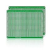 para el Accesorio Arduino Kits LDTR-WG032 / D3 Placa Universal de PCB de prototipos de Fibra de Vidrio de Doble Cara (Paquete de 7 x 9/2 Piezas)
