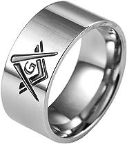 Jude Jewelers 10mm Stainless Steel Masonic Ring Band