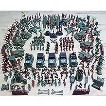 SAFETYON 307P Soldado Ejército Hombres Granada Tanque Avión Cohete Escena de Arena Niños ...