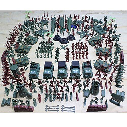 SAFETYON 307P Soldado Ejército Hombres Granada Tanque Avión Cohete Escena de Arena Niños Modelo de Juguete