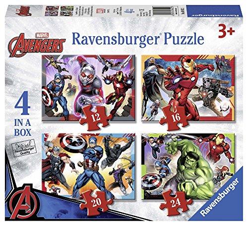 Ravensburger Marvel Avengers 4in Einer Box (12, 16, 20, 24-) Puzzle