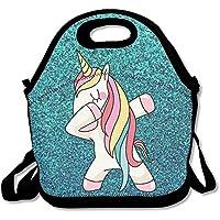 Hip Hop Cool JUCHen Dab Dance - Bolsa para el almuerzo de picnic de viaje con diseño de unicornio